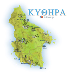 Nature Map of Kythira island