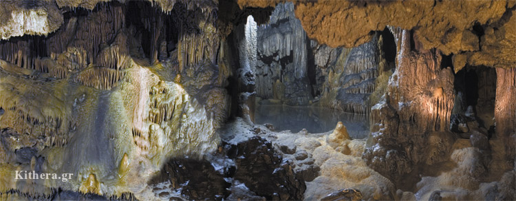 Hall of cave in Kythira
