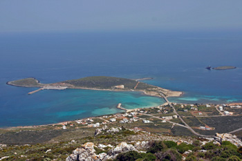 The village of Kythira Diakofti